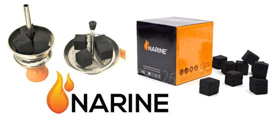 Kokosvé uhlie do vodnej fajky Narine